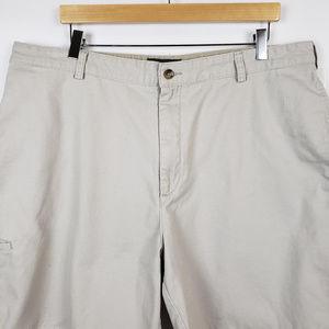 Saddlebred Mens Flat Front Cotton Chino Pants